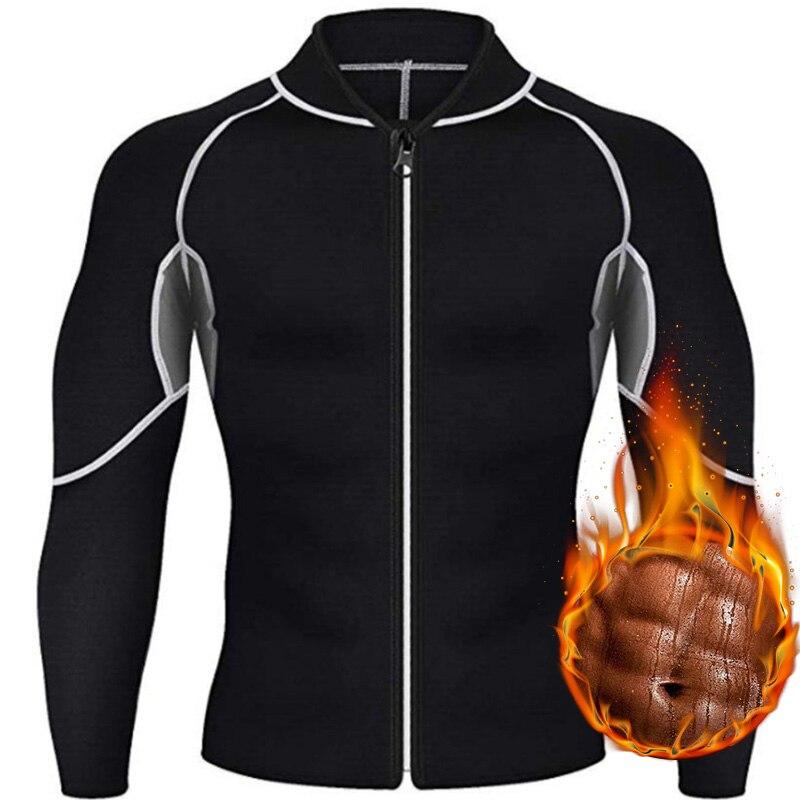 Adelgazante cinturón hombres cintura entrenador corsé chaleco chaqueta con cremallera camisa neopreno Sauna pérdida de peso Body Shaper Tank Tops
