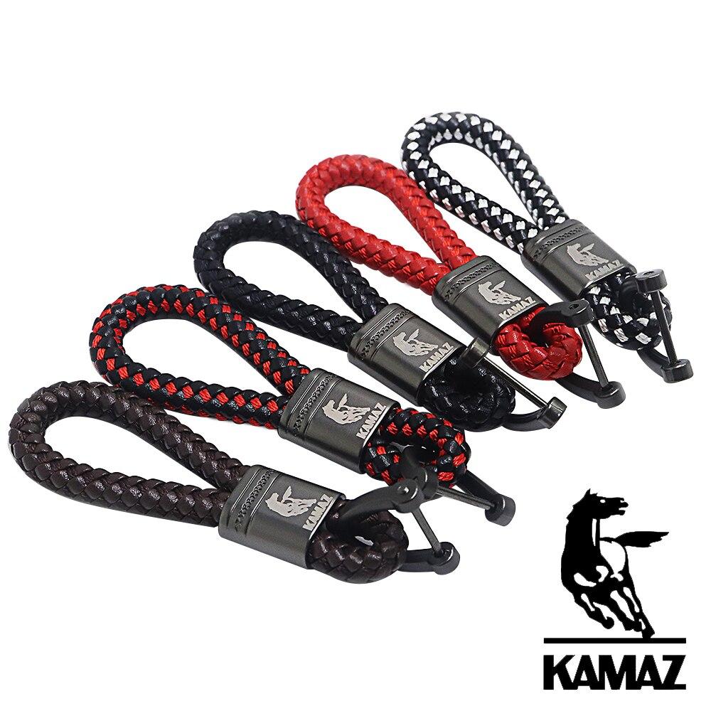 Coche de cuerda de cuero llavero para camión KAMAZ tifón KAMAZ3 5320, 54907, 5490, 6460 A2