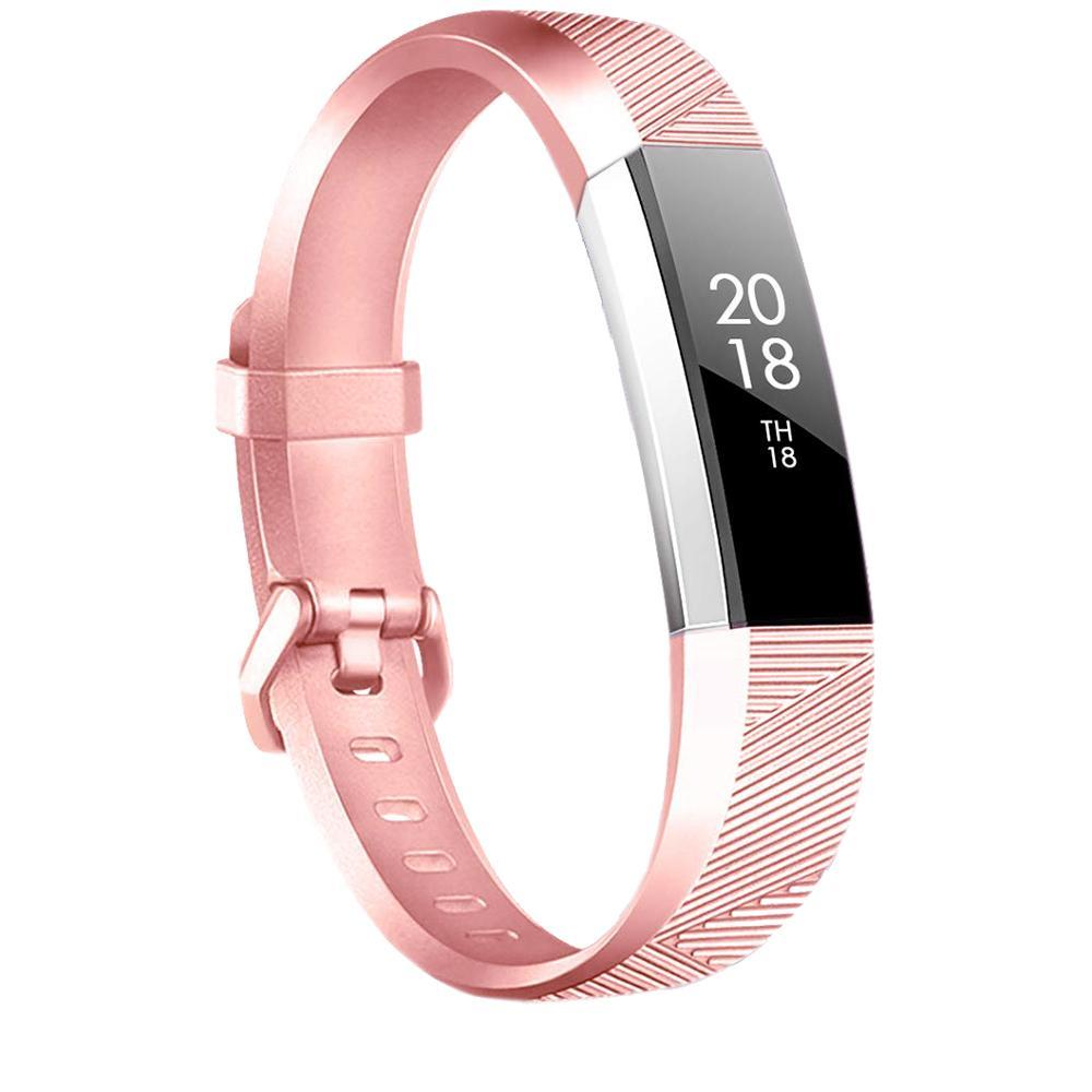 Pulsera de oro rosa para Fitbit Alta HR / Fitbit Alta, correa para reloj inteligente, pulsera grande pequeña para Fit bit Alta HR