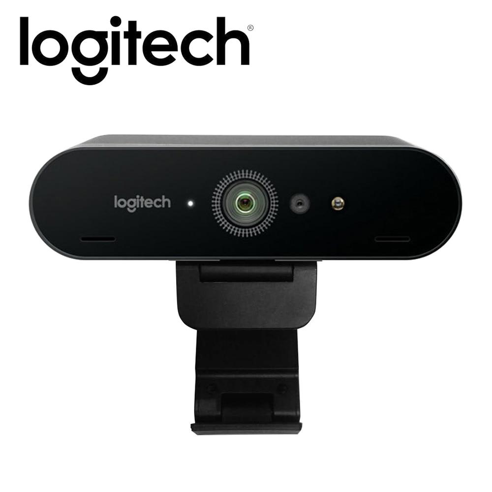 Cámara web con micrófono Logitech BRIO C1000e 4K HD para videoconferencia, cámara de grabación para reconocimiento facial de ordenador