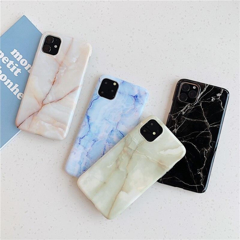 Marmor Fall Für iPhone 11 Pro Max Zurück Abdeckung auf Für Huawei P20 Lite P30 Pro Telefon Coque Weiche IMD silikon Shell Haut XR
