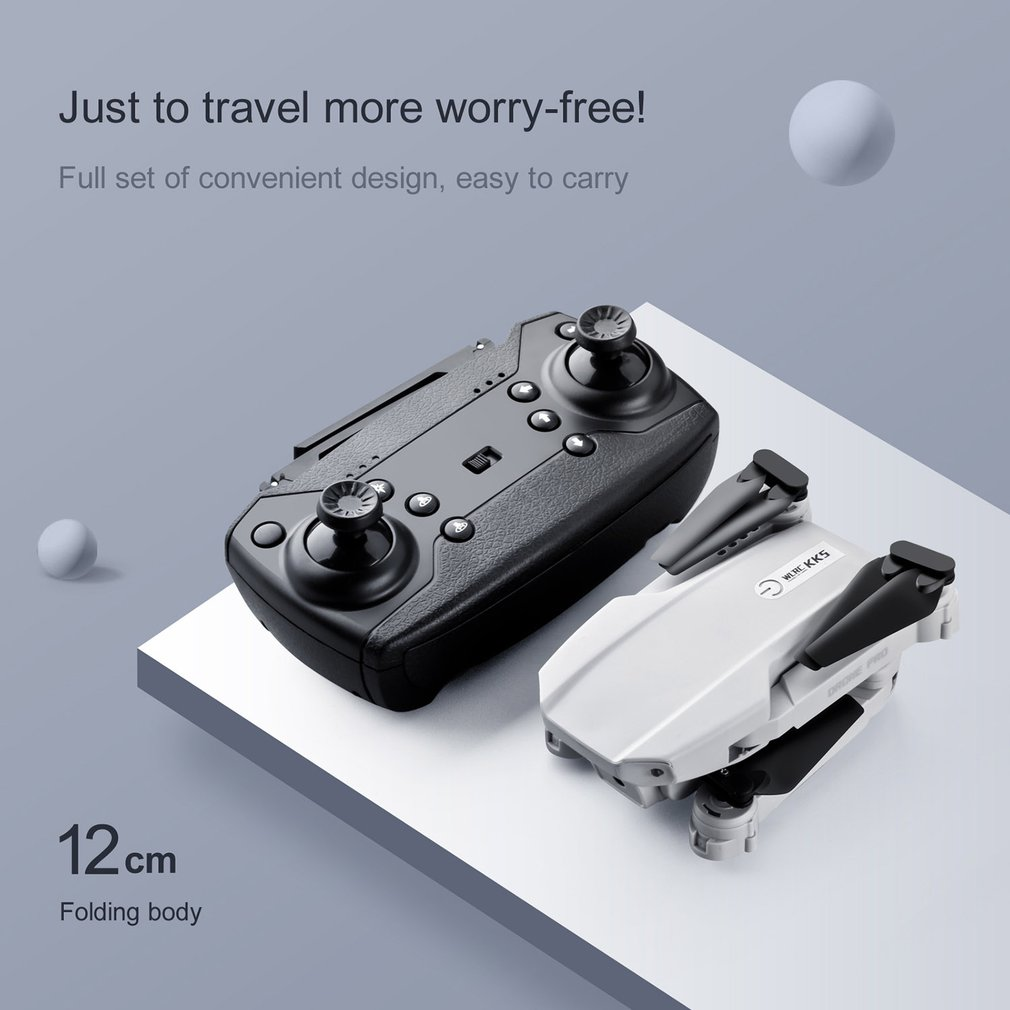 KK5 WiFi FPV with 4K 1080P without camera HD Dual Camera Altitude Hold Mode Foldable RC Drone Quadcopter RTF VS KK8 enlarge