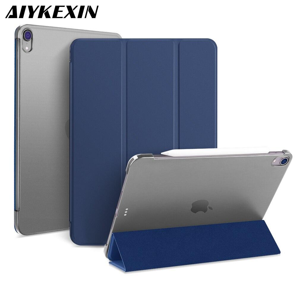 Чехол AIYKEXIN для iPad Pro, 12,9 дюймов, 2018 из искусственной кожи, передняя крышка, Жесткий ПК, задняя крышка, умный чехол для iPad Pro 12,9, A1876, A2014, A1895