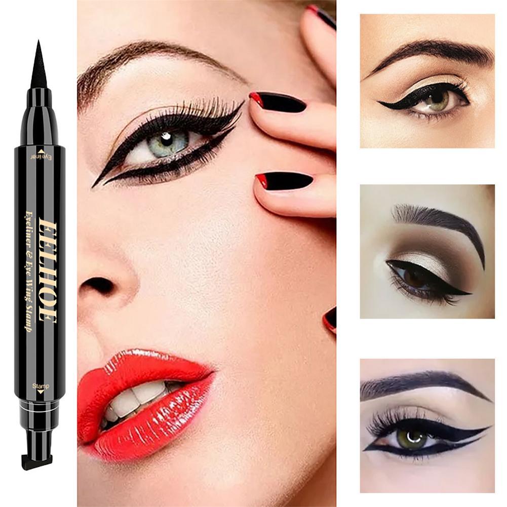 Фото - Double-headed Durable Waterproof Eyeliner Pencil Eye Shadow Pencil Lasting Eye Liner Pencil Pigment Waterproof Eye Makeup Tools note smokey eye pencil