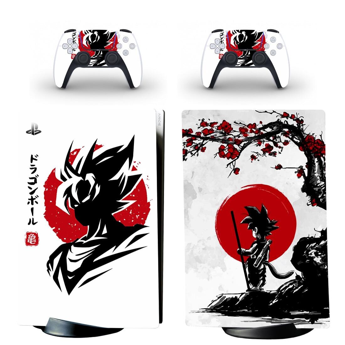 غوكو فيغيتا PS5 طبعة رقمية الجلد ملصق غطاء لاصق لامع لوحدة التحكم بلاي ستيشن 5 ووحدات تحكم PS5 الجلد ملصق الفينيل