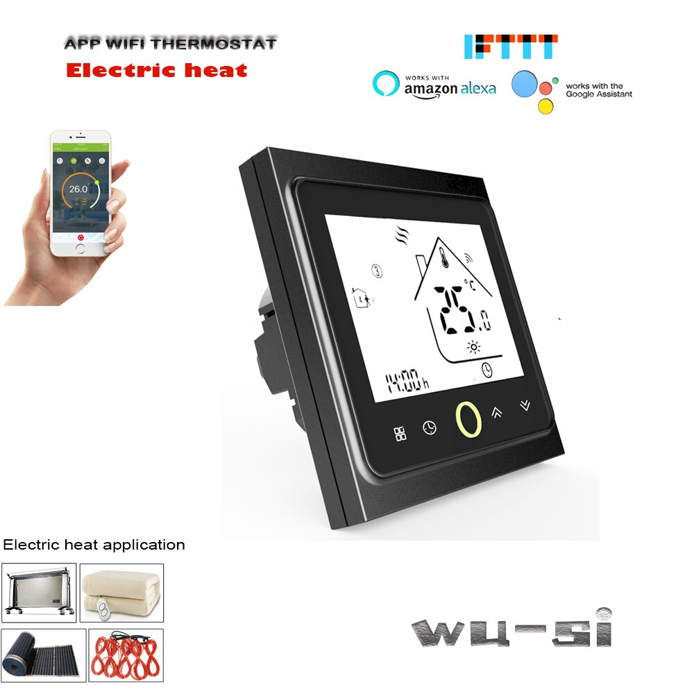 WIFI thermostat-for floor heating, electric heating film,95-240VAC 16A