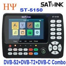 Oryginalny SATLINK ST-5150 DVB-S2/T2/C COMBO HD telewizja satelitarna Finder miernik H.265 MPEG-2/MPEG-4 lepiej SATLINK WS-6980 6933 6916