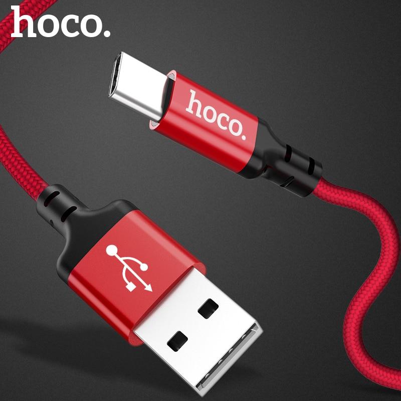 HOCO Original USB Type C Cable 2A USB C Cable Fast Charging Data Cable Type-C USB Charger Cable For Galaxy S8 Plus Xiaomi 6 Mi5