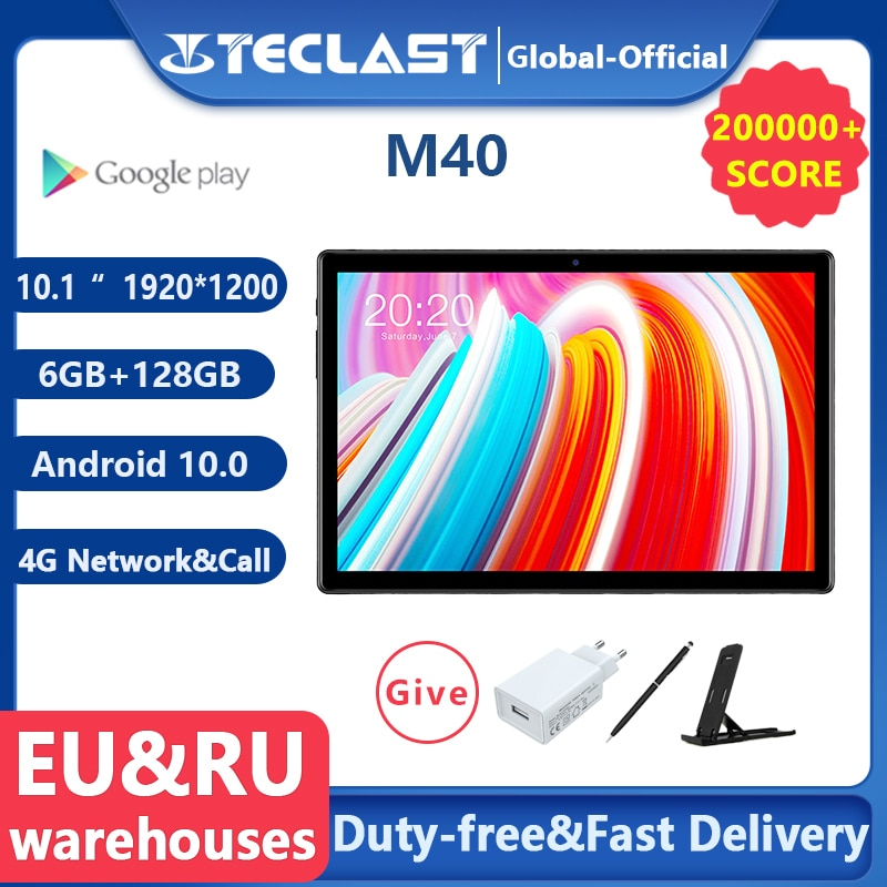 Teclast M40 10.1'' Tablet 1920x1200 4G Network UNISOC T618 Octa Core 6GB RAM 128GB ROM Tablets PC An