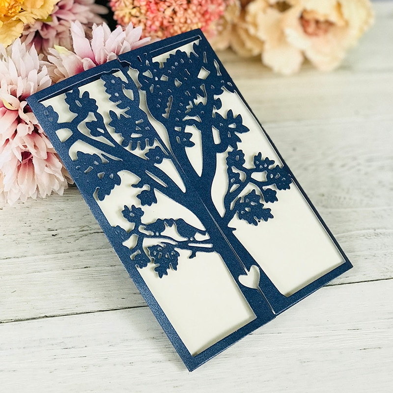 tree wedding invitation Dies Metal Cutting Dies Scrapbooking leaves Border Craft Dies Cuts for DIY Paper Card making decoration