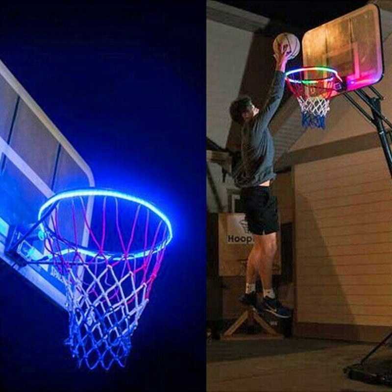 Novo led solar basketball hoop luz aro de basquete jogando luz da noite accessoriess