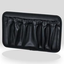 PU Leather Seat Side Storage Bag auto accessories Universal Organiser Phone Pen Key Car styling Door Stick Paste Pockets Holder