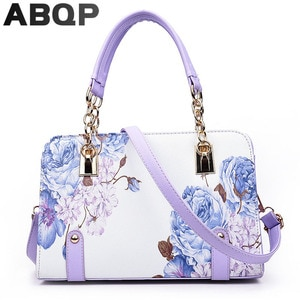 Luxury Floral Printed Handbags For Women PU Leather Female Shoulder Bag Designers Girls Trend Shopping Crossbody Bags