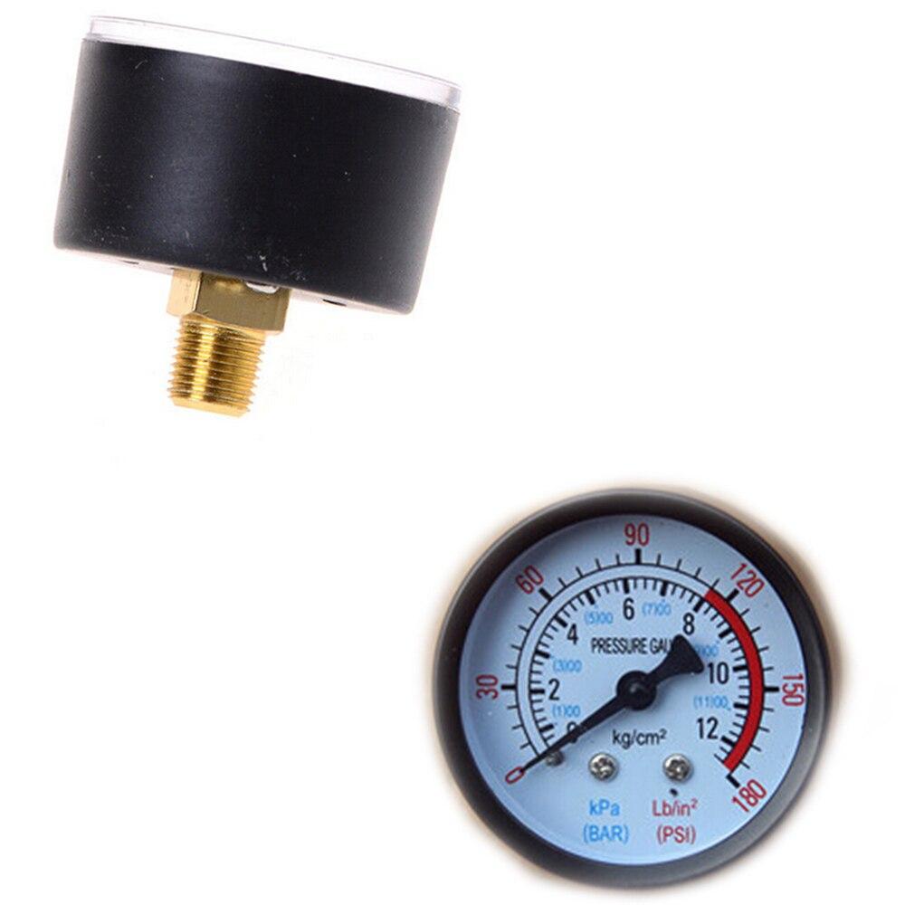 ¡Producto en oferta! Compresor de aire, manómetro de fluido hidráulico neumático 0-12bar/0-180PSI, 1 unidad