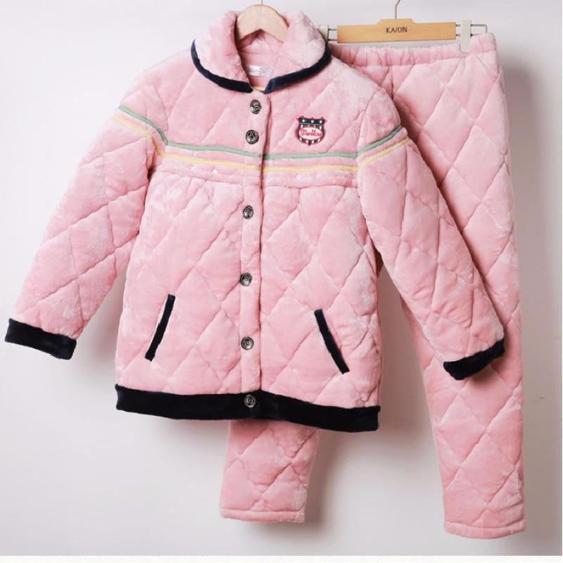 Ropa de dormir de maternidad acolchada de algodón grueso de invierno pijamas ropa de dormir para mujeres embarazadas ropa de dormir en casa