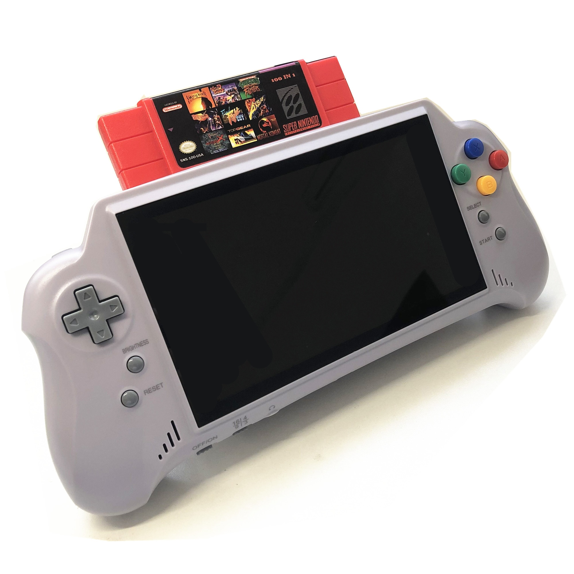 16bit 7inch big screem HD ULTRA SNES POCKET RETROAD 5PLUS Video Game Console handheld game player  2.4G Wireless controllers