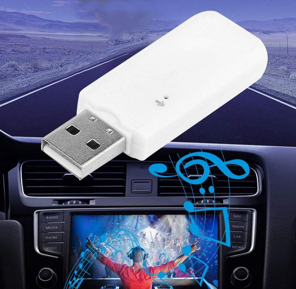 Adaptador receptor de Audio inalámbrico por Bluetooth con USB para chrysler 300c passat b5 fiat panda golf 5 gti peugeot 308 saab mercedes