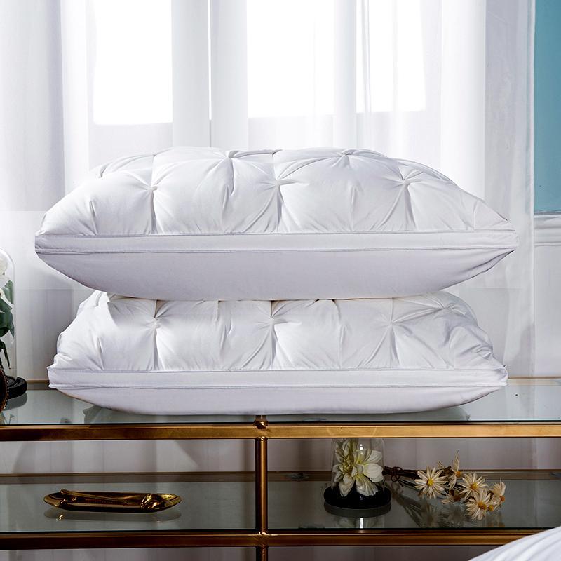 30 3D Twist flower Cotton Pillow 48*74cm Rectangle White Goose/Duck Feather Bedding Pillows Down-Proof Sleeping pillow Filler #s