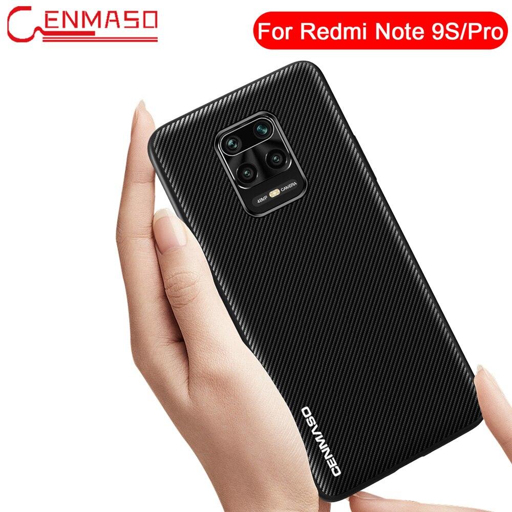Para Redmi 9 Nota 9 S 10X 4G de fibra de carbono, funda para Xiaomi Mi nota 10 Pro 9T A3 Lite para Redmi Nota 9 S 8 PRo 8T K30 K20 caso