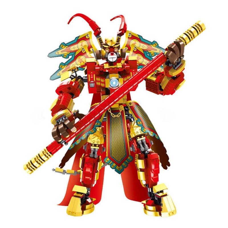 New Monkey King Warrior Mech  Sun Wukong Chinese Hero  Model Bricks Children Toys Gift New 2020