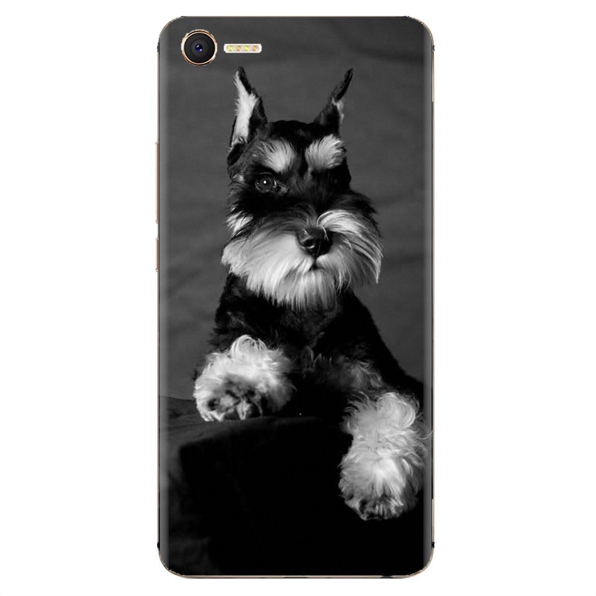 Para Nokia X6 2 3 5 6 8 9 230, 3310, 2,1, 3,1, 5,1, 7 2017, 2018 Schnauzer miniatura cachorro perro arte de silicona de moda teléfono caso