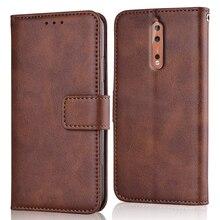 Étui mince en cuir pour NOKIA 8 2017 TA-1004 5.3 étui portefeuille magnétique pour NOKIA8 couverture arrière