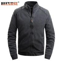 men spring new motorcycle causal vintage leather jacket coat men autumn outfit fashion biker pocket design pu leather jacket men