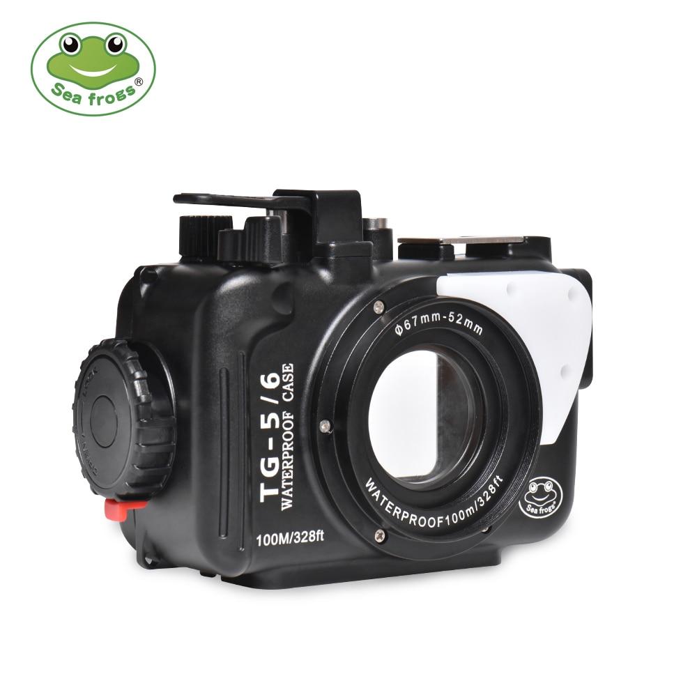Marine rogs-علبة أنشطة تحت الماء من سبائك الألومنيوم ، مبيت مقاوم للماء لكاميرا Olympus TG6/TG5Camera ، 100 م/325ft TG6/TG5