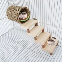 hamster tunnel bed climbing ladder cage playground chew toys rat habitat shelter