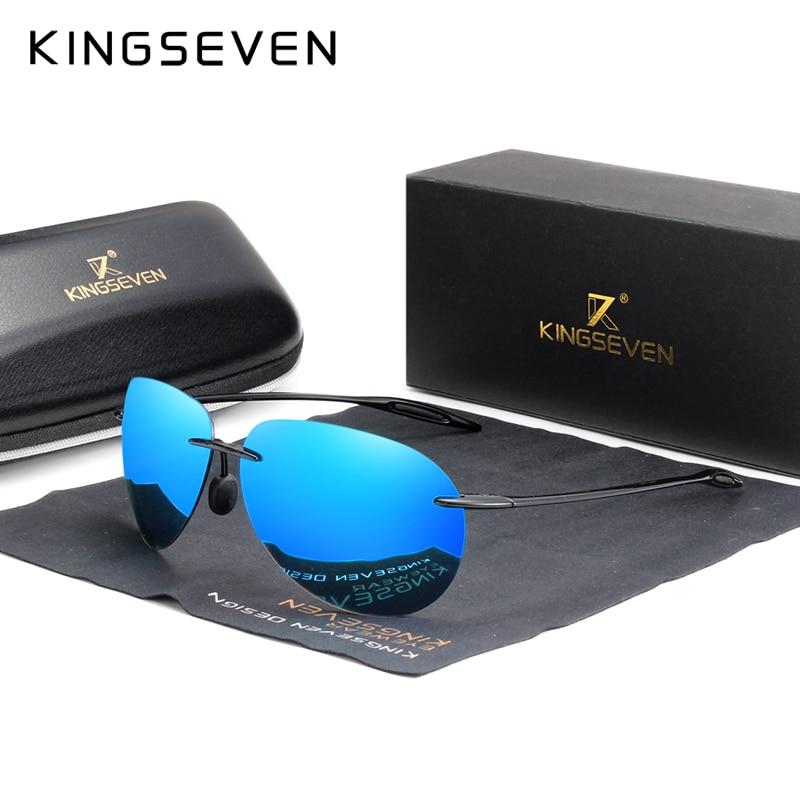 AliExpress - KINGSEVEN 2020 Ultralight TR90 Rimless Sunglasses Men High Quality Frameless Sun Glasses For Women Oculos Feminino