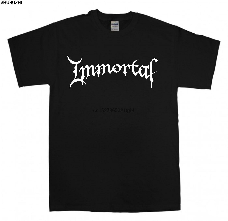 Camiseta negra con nuevo Logo de inmortal S-XXL Black Metal Band T Shirt Darkthrone Mayhem delgada Camiseta de manga corta para hombres camisetas superiores sbz4404