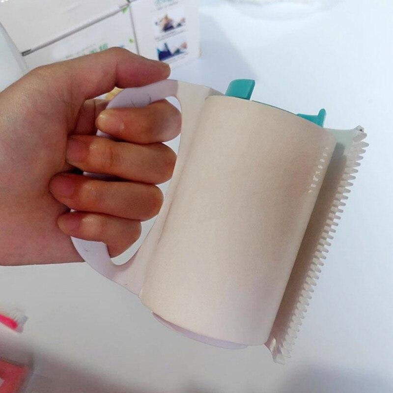 Rodillo de pelusa reutilizable lavable rodillo de pelusa pegajoso de silicona limpiaparabrisas Pet removedor de pelo utensilios cepillo de limpieza para paño de mascota N06 H02