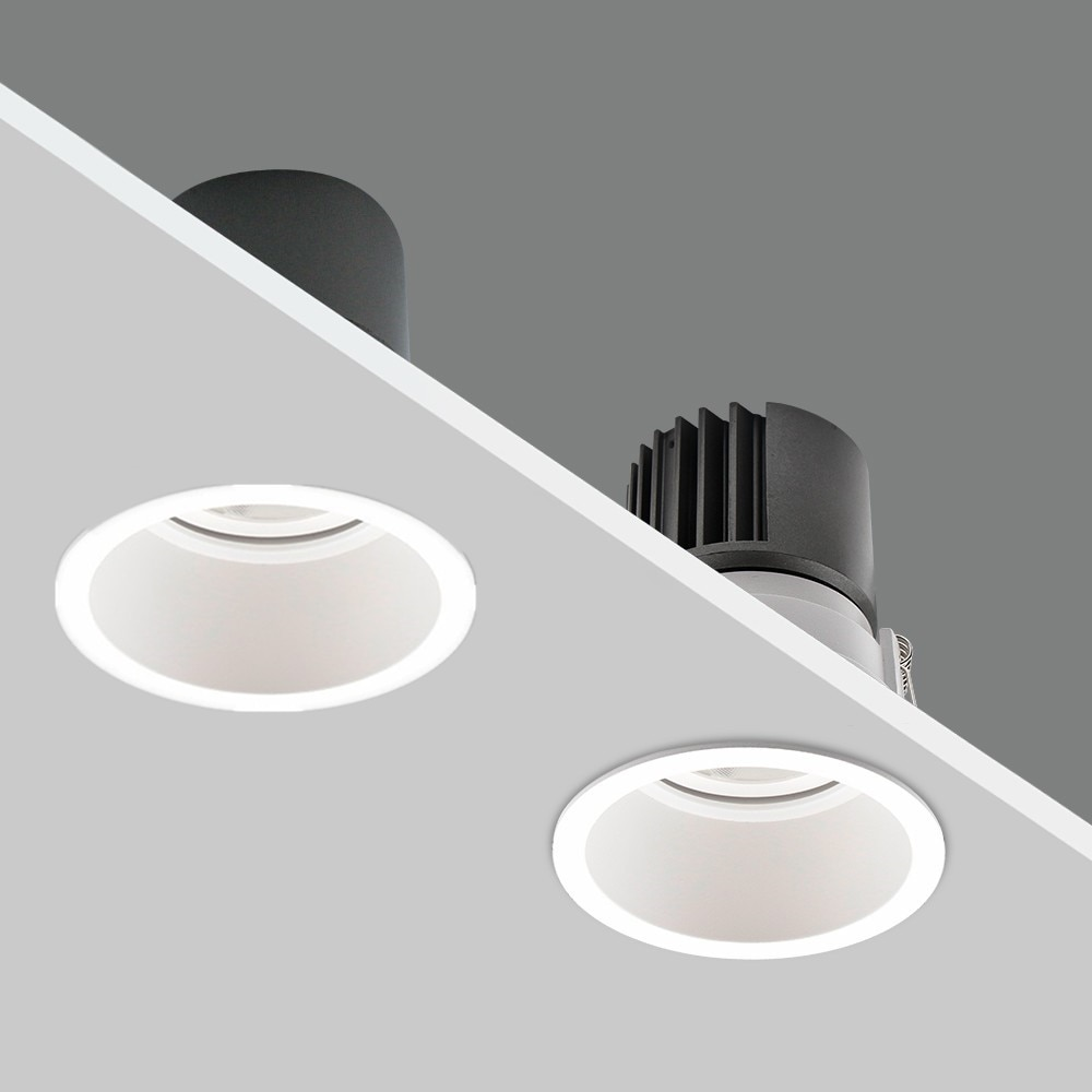 Foco empotrable LED regulable 12W 15W sin brillo luz LED empotrable de techo para decoración del hogar dormitorio cocina lámpara de punto de luz interior