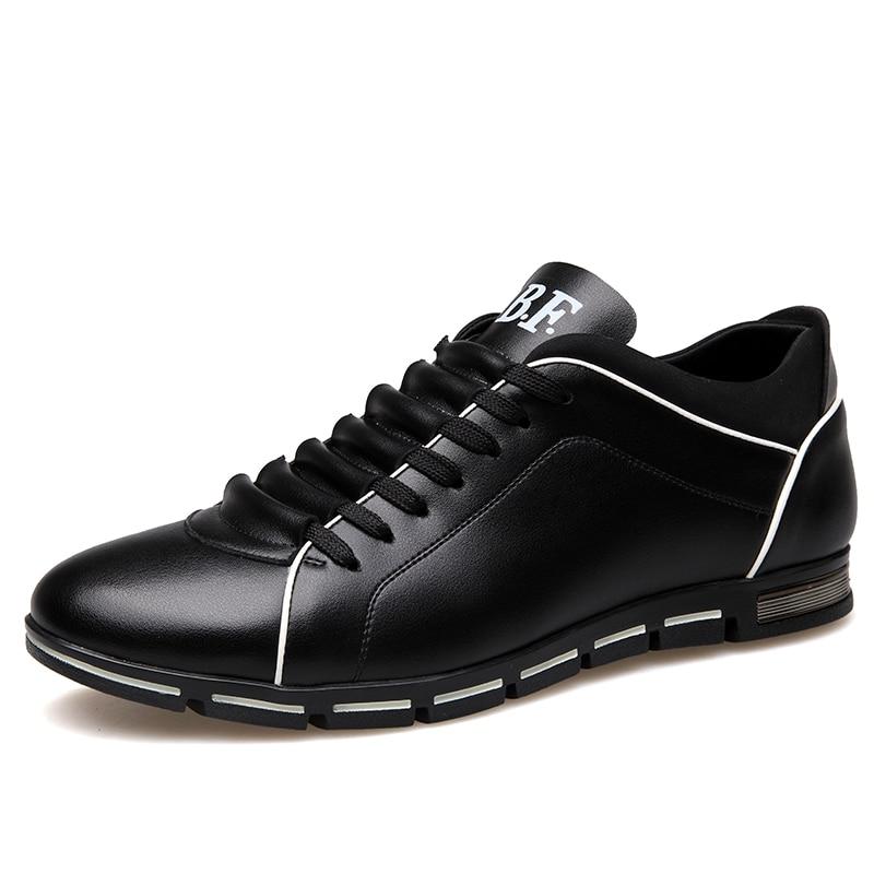 Gran tamaño 37-50 zapatos casuales para hombres zapatos de cuero de moda para hombres verano hombres caída de zapatos plana envío