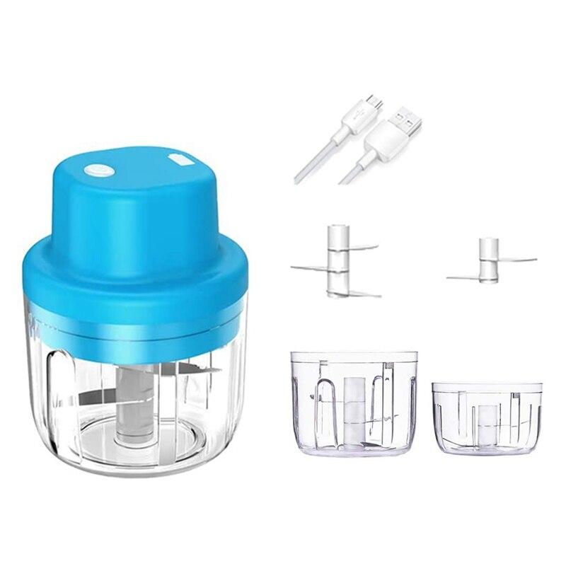 Electric Mini Garlic Chopper 2 Cup 300ML 150ML Handheld Electric Garlic Press Mincer Food Chopper Blender