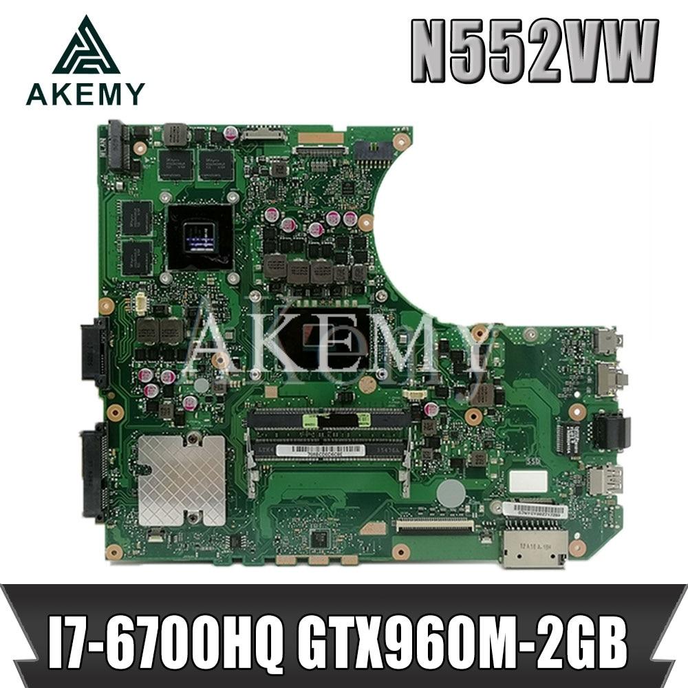 N552VW ノートパソコンのマザーボード vivobook プロ N552VW N552VX N552V オリジナルマザーボード HM170 I7-6700HQ GTX960M-2GB