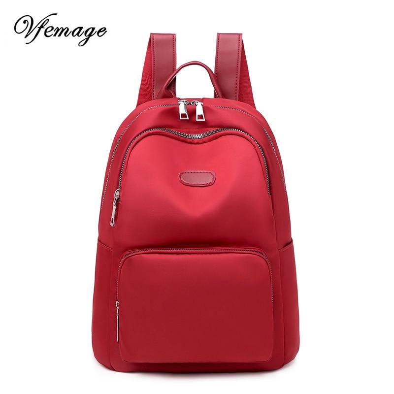 Vfemage 2019 bolso Casual Mochila para mujer mochilas escolares para niñas adolescentes Mochila para señoras Mochila de viaje saco a Dos Mochila