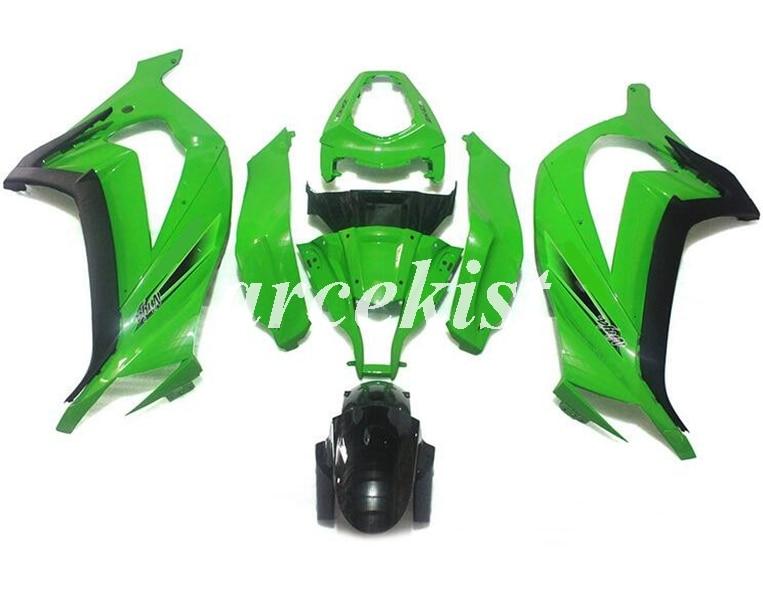 Nuevo ABS inyección Kit completo de carenados apto para Kawasaki Ninja ZX-10R ZX10R 10r 2011, 2013, 2014, 2015 11 12 13 14 15 verde bonito