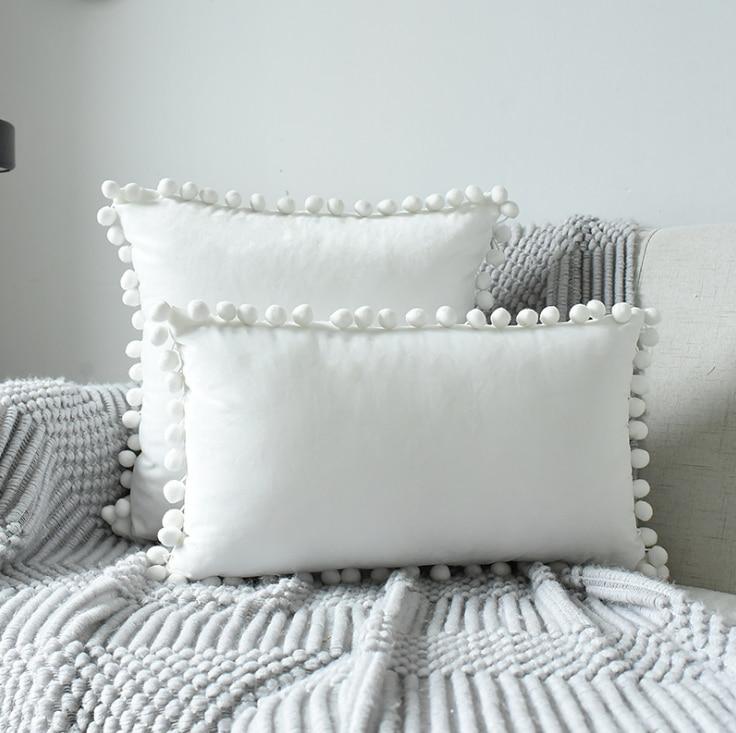 Almohada de bebé con bola, decoración para habitación de bebé, decoración de algodón, funda de cojín, fundas de almohada sin relleno, decoración de habitación infantil