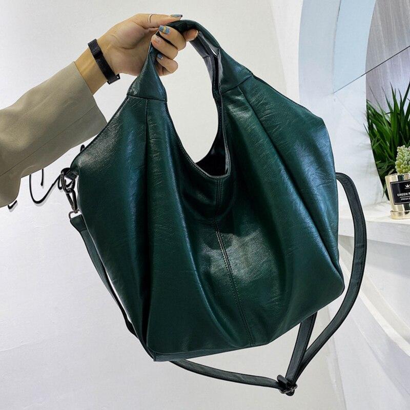 Ansloth Fashion High Capacity Shoulder Bags Women Luxury Soft Leather Casual Handbag 2021 New Trendy Fashion Crossbody Bags Lady