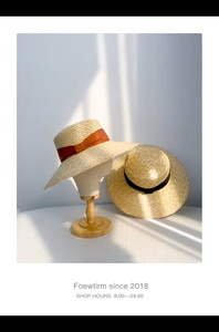 202005-shi  summer French  Retro  grace holiday beach solid paper sun cap women leisure  hat