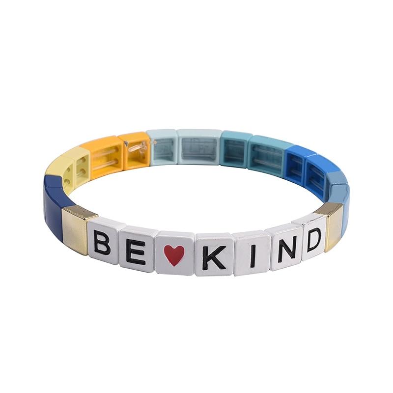 Arco Iris myuki de brazaletes de cartas pulsera ser amistad pulsera de la joyería de boho vsco chica verano acceso