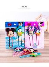 Disney dessin animé Mickey Minnie trombone signet bricolage décoration créative Donald canard papeterie enfants bureau fournitures scolaires cadeau