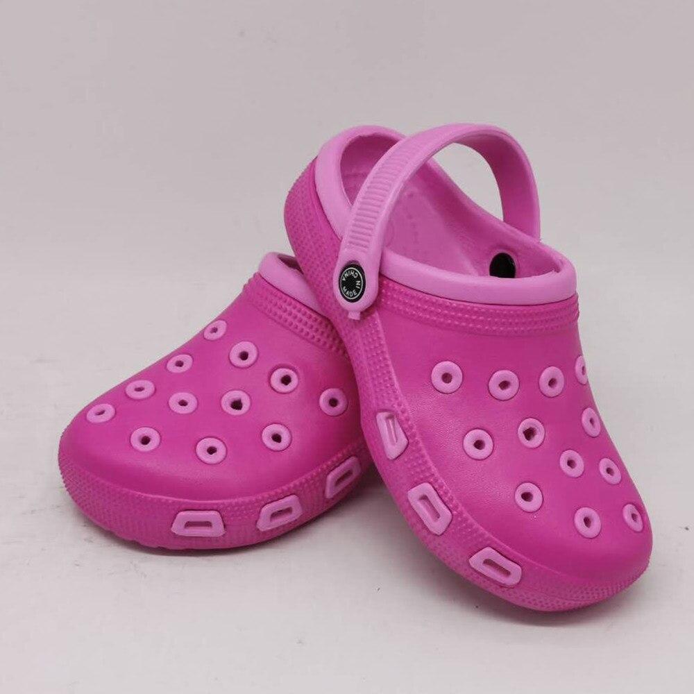 GIRL  KIDS SUMMER BABY MULES CROC BEACH SANDALS SLIPPERS GARDEN CAVE SHOES FOR GIRLS EU24 25 26 27 28 2 30 31 32 33 34 35 US5-13
