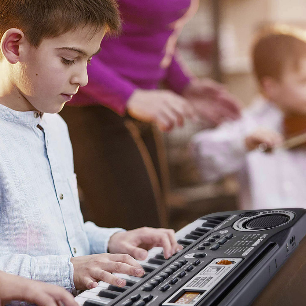 61 Keys Digital Music Electronic Keyboard Key Board Electric Piano With Microphone Educational Toy  Kids Gift Musical Instrument