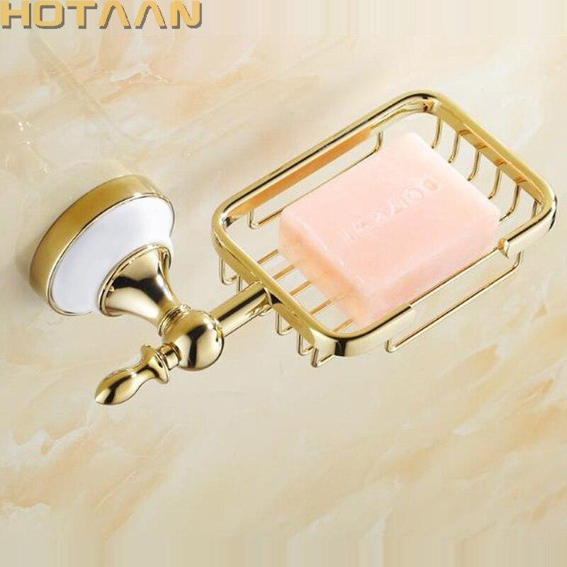 Mydelniczka ze stali nierdzewnej akcesoria łazienkowe mydelniczka prysznicowa złota łazienka mydelniczka ścienna z ceramiką do bezpłatnej wysyłki