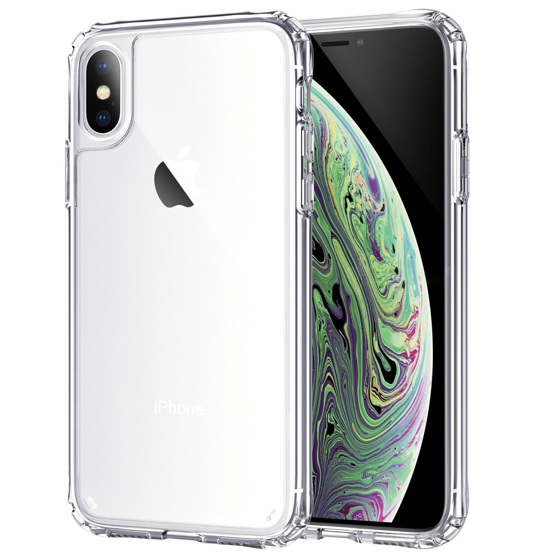 "Para o iphone x xs/xr 6.1 ""/xs max 6.5"" caso, wefor amortecedor à prova de choque capa anti-risco claro volta hd claro"