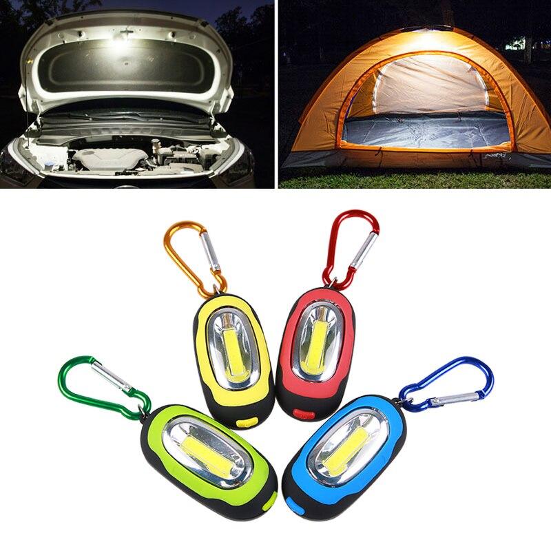 Mini portátil LED linterna de exterior para Camping tienda de campaña lámpara de luz intermitente impermeable linterna con gancho para colgar con mosquetón
