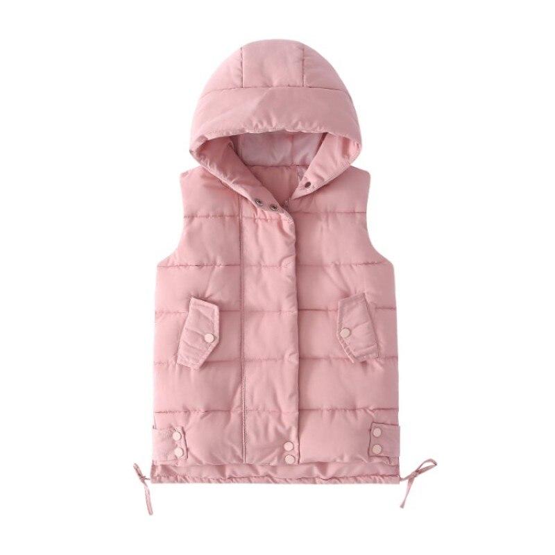 سترة غير رسمية للبنات للخريف والشتاء ملابس خارجية معاطف للبنات الصغار سترة قطنية بدون أكمام سترة دافئة للأطفال
