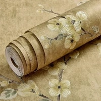 beige green non woven wallpaper 3d floral wall sticker home bedroom living room girls room decor wallpapers 10m roll papers
